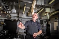 Angelo Ventura i køkkenet hos restaurant Luna Rossa